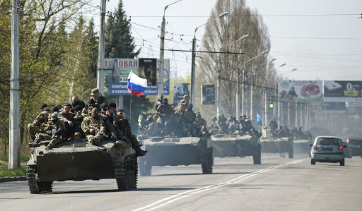 Armed militia or Russian invasion Ukraine 20140416 - fr