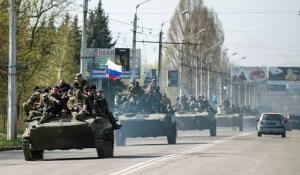 Armed militia or Russian invasion Ukraine 20140416 - fr