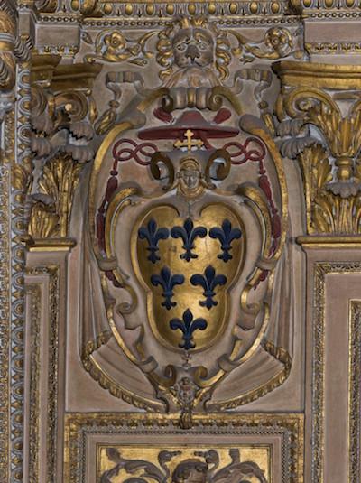 Blason Farnèse, avant restauration