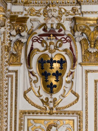 Blason Farnèse, après restauration