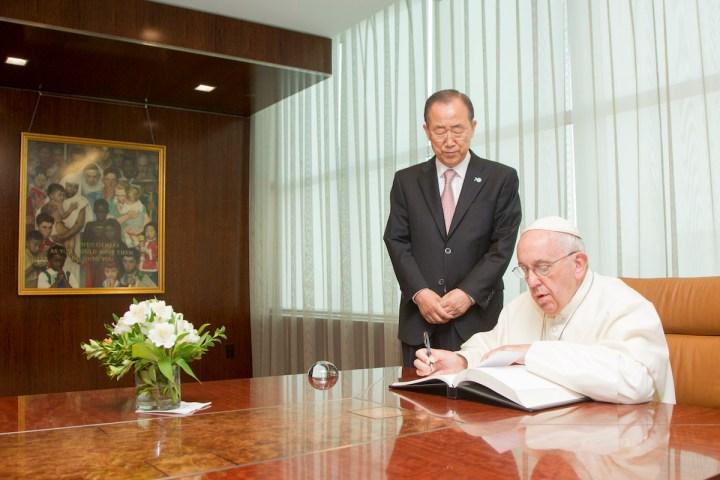Visite de sa Sainteté le pape François aux Nations Unies
