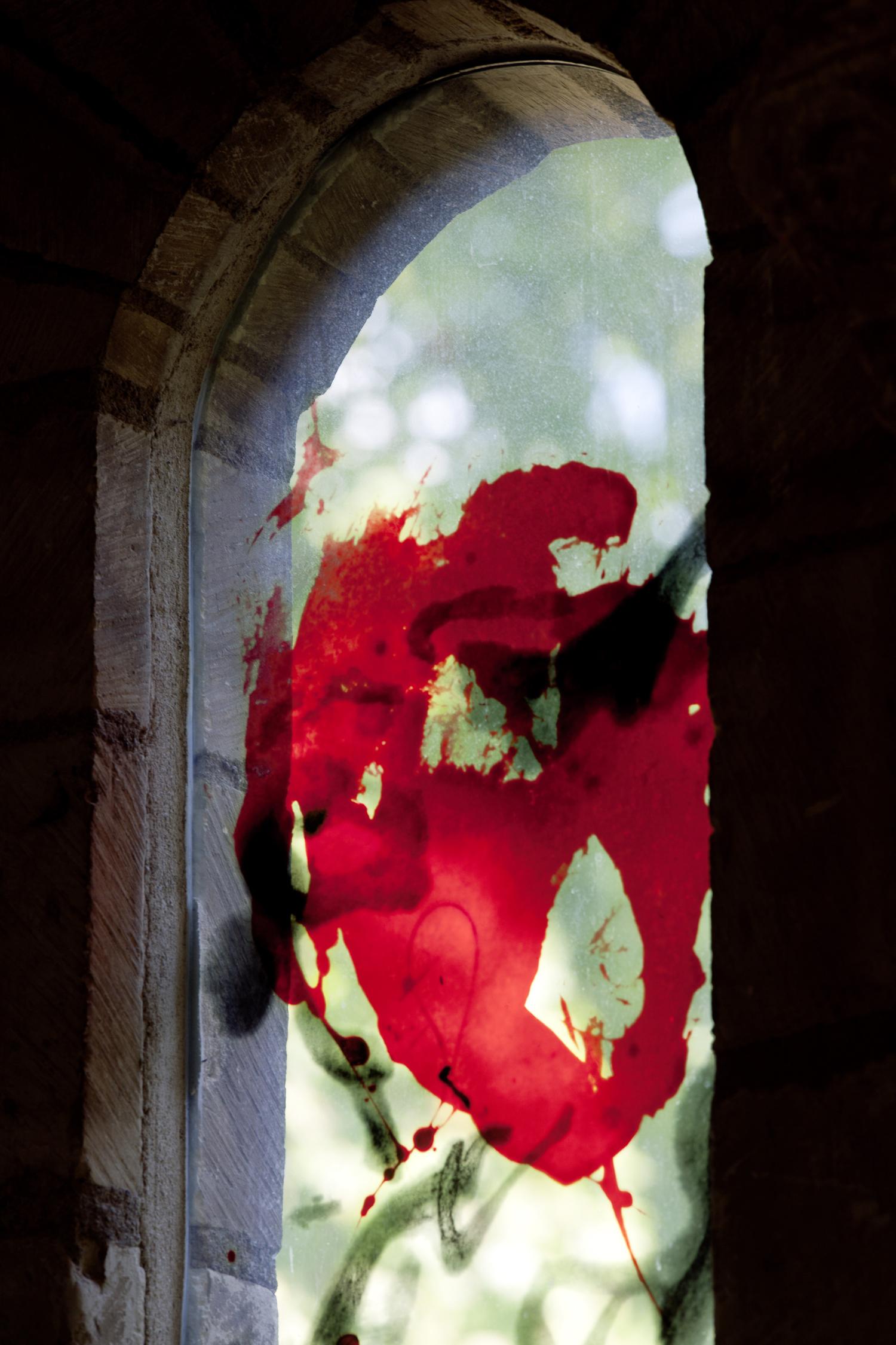 Zao Wou-Ki, Réfectoire du prieuré de Saint-Cosme, La Riche, 2010 (détail)