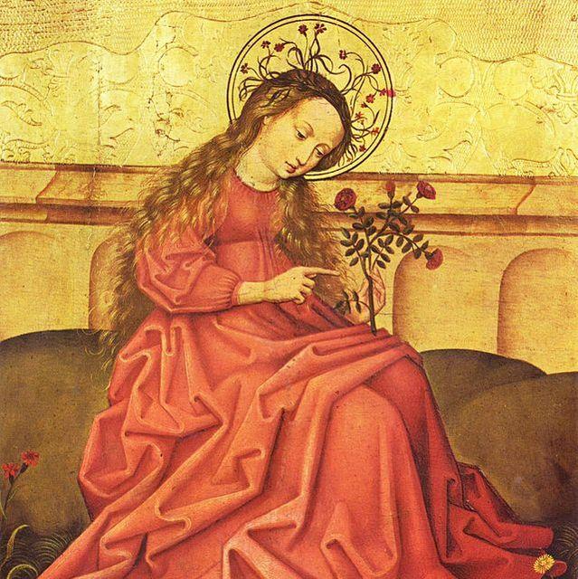 (c)Vierge au jardinet, Maître rhénan anonyme, Musée de l'Oeuvre Notre-Dame_commons.wikimedia.org