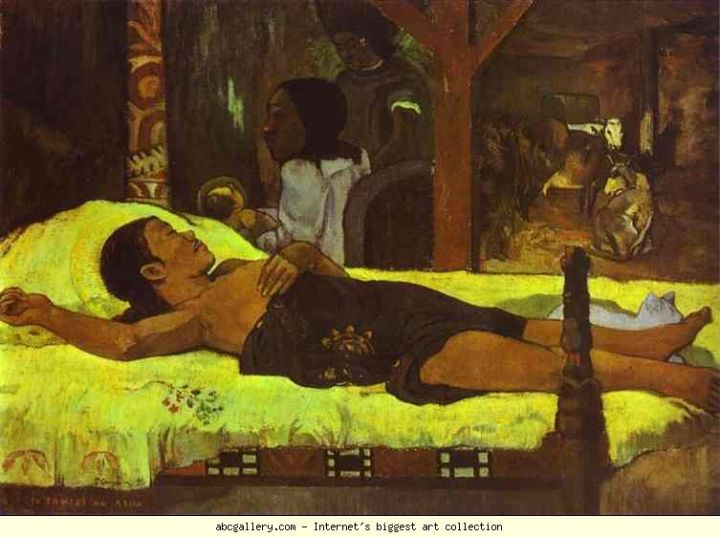 Paul Gauguin (1848-1903), Te Tamari No Atua (Nativité), 1896, huile sur toile, Munich, Neue Pinakothek