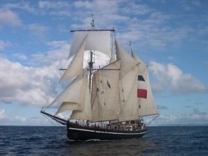 L'un des voiliers sur lequel a navigué le Père Jaouen