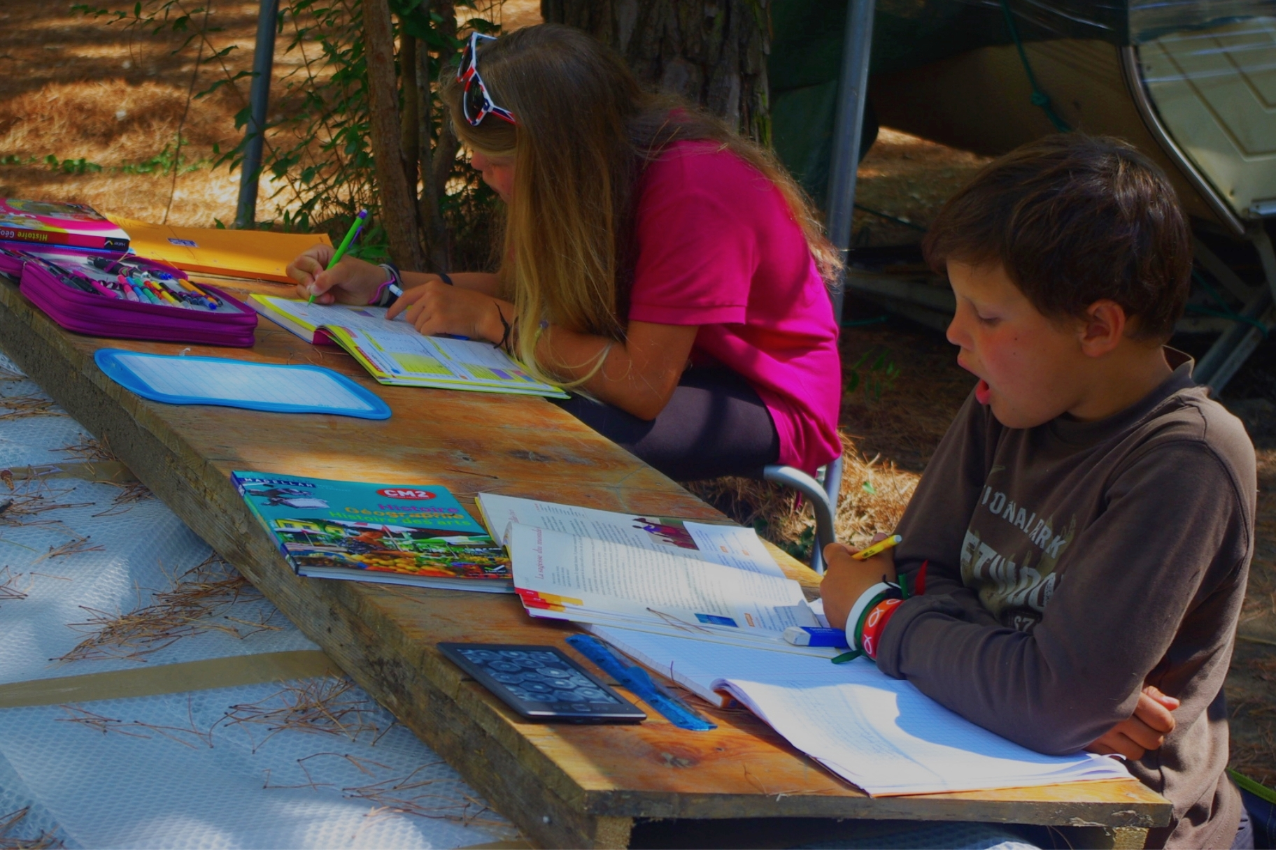 En Italie - Capucine fait la classe aux enfants