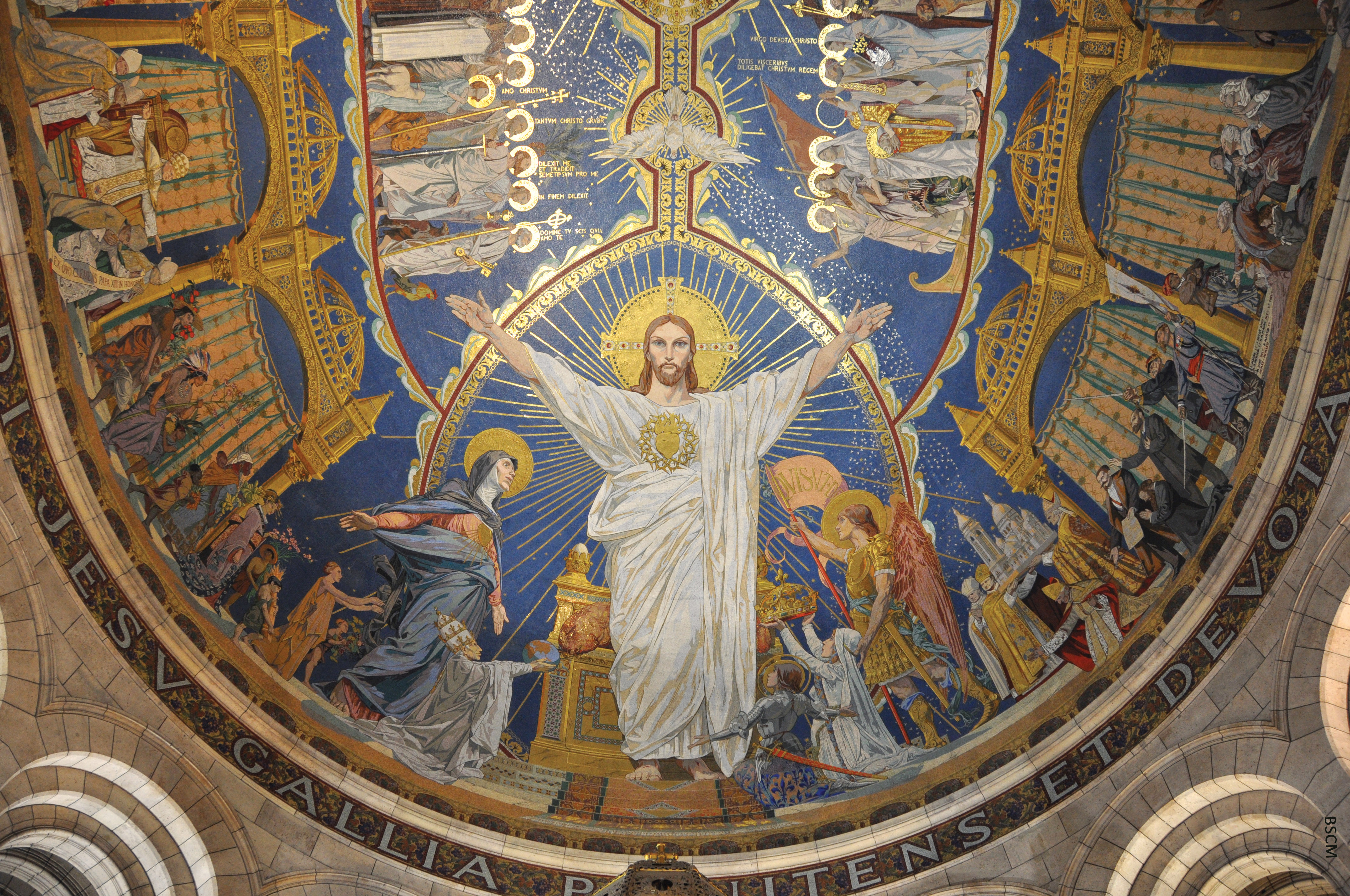La célèbre mosaïque du chœur de la basilique du Sacré-Cœur de Montmartre