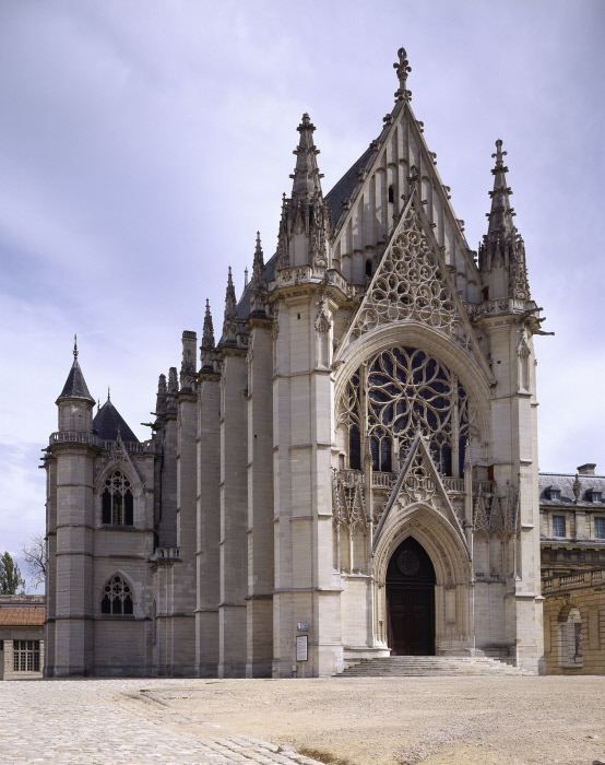 La façade occidentale de la Sainte-Chapelle