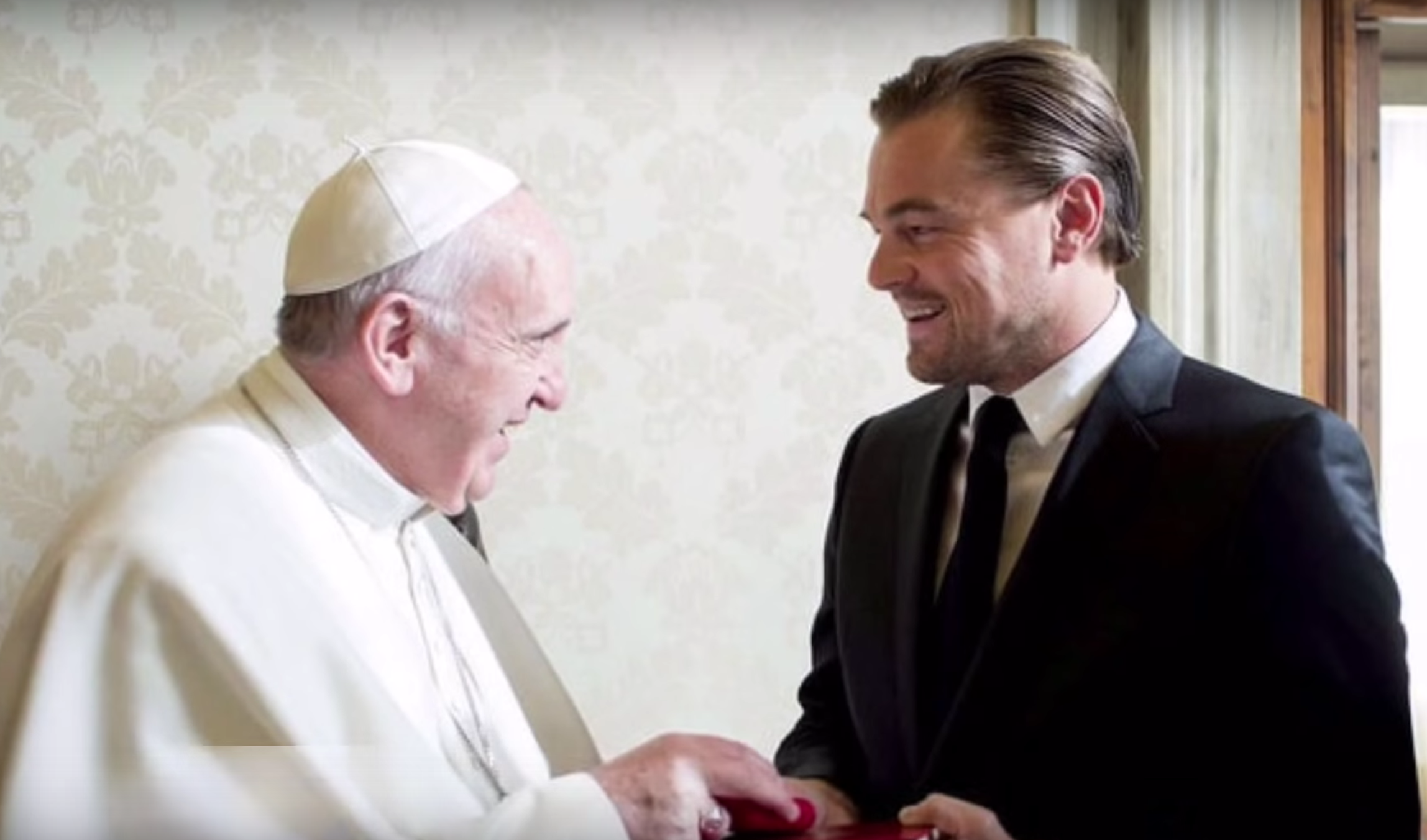 Le Pape François reçoit Leonardo DiCaprio
