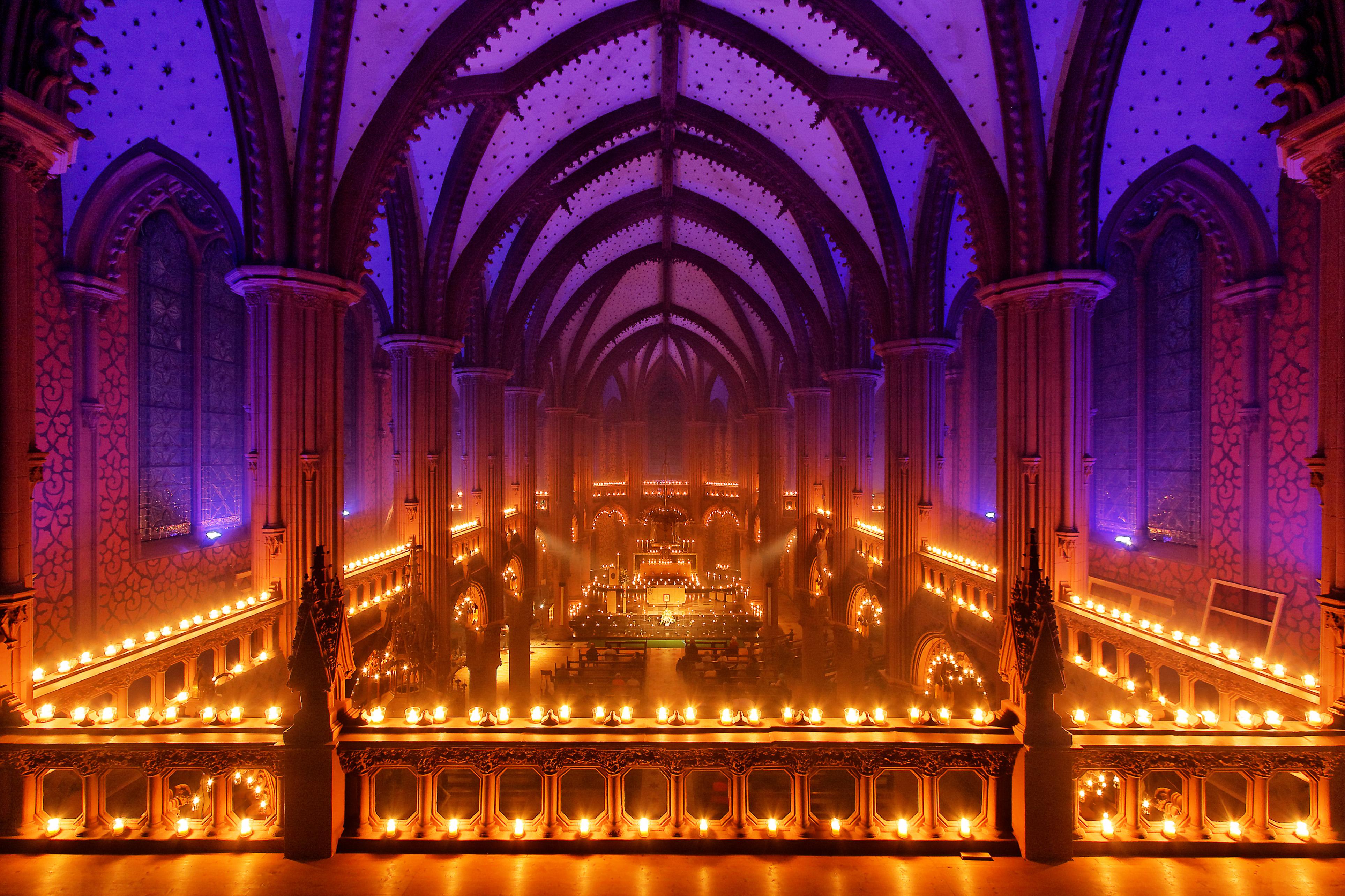 La cathédrale de Noyon illuminée