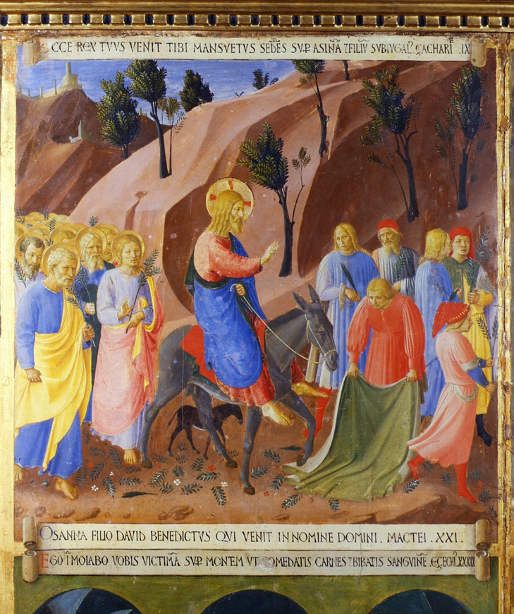 Fra Angelico, La procession des Rameaux, vers 1450-1452, tempera sur panneau de bois, armoire des ex-voto d'argent, Florence, Musée San Marco © Firenze - San Marco
