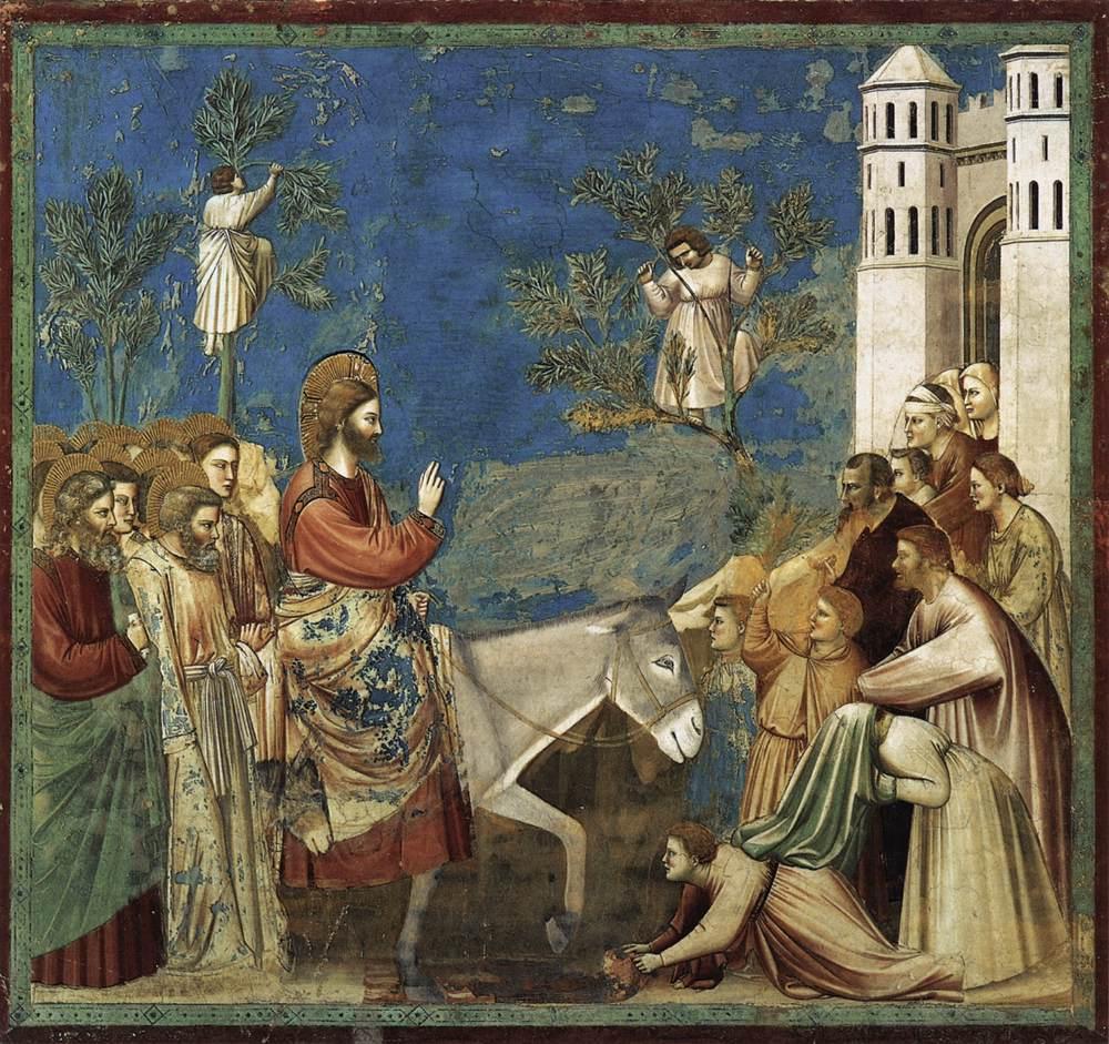 Giotto, L'entrée du Christ dans Jérusalem, 1304-1306, fresque, Padoue, Chapelle des Scrovegni © Padova - Cappella degli Scrovegni