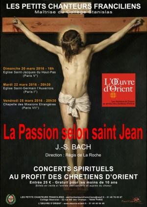 La Passion selon St Jean