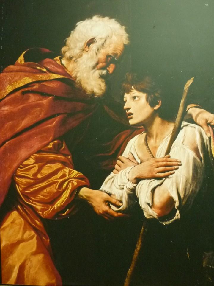 Leonello Spada, Le retour du fils prodigue, huile sur toile, 160 x 119 cm, Paris, Musée Du Louvre © Musée du Louvre
