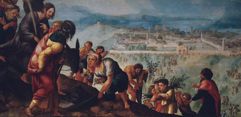 Jan van Scorel, L'entrée du Christ dans Jérusalem, vers 1526, huile sur bois, panneau central du triptyque, Utrecht, Centraal Museum © Utrecht Central museum