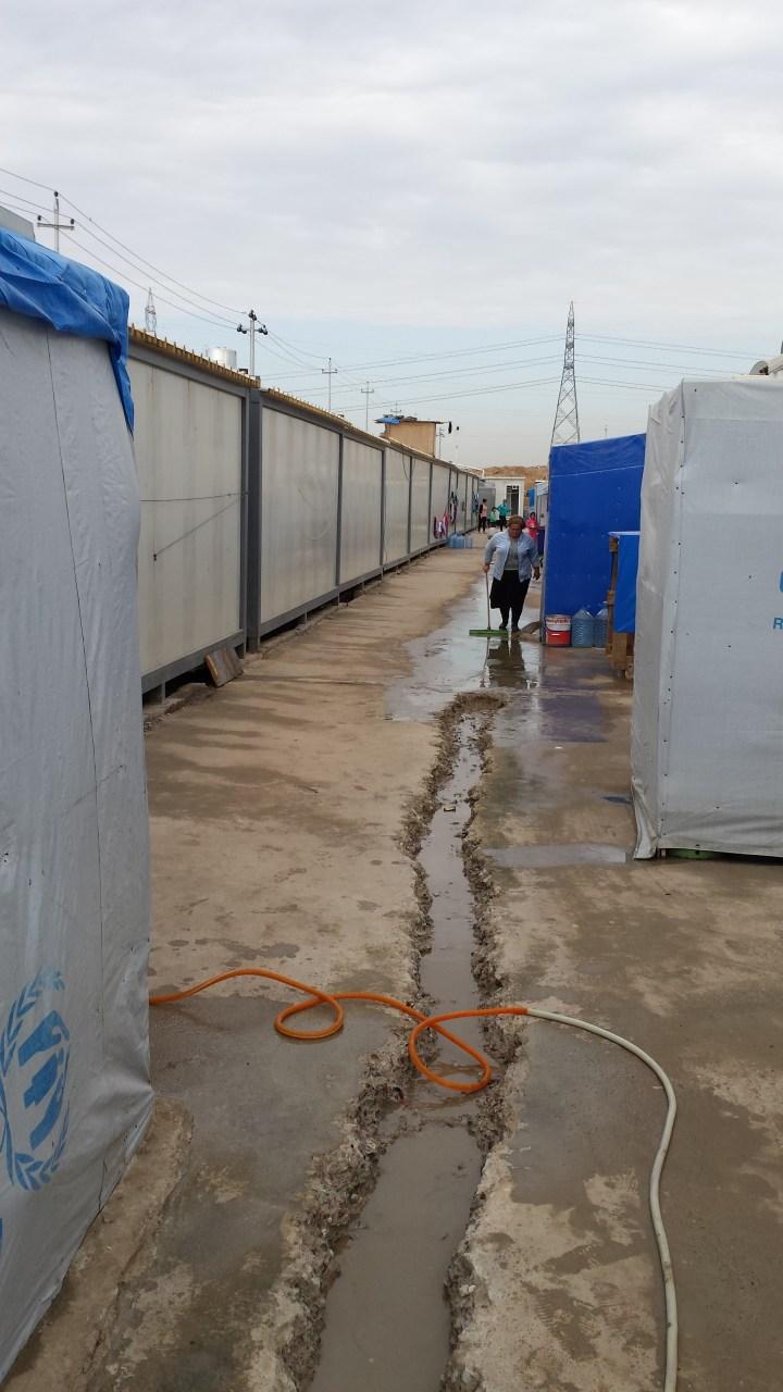 Dans un camp de réfugiés en Irak © Frère Louis-Marie Ariño-Durand