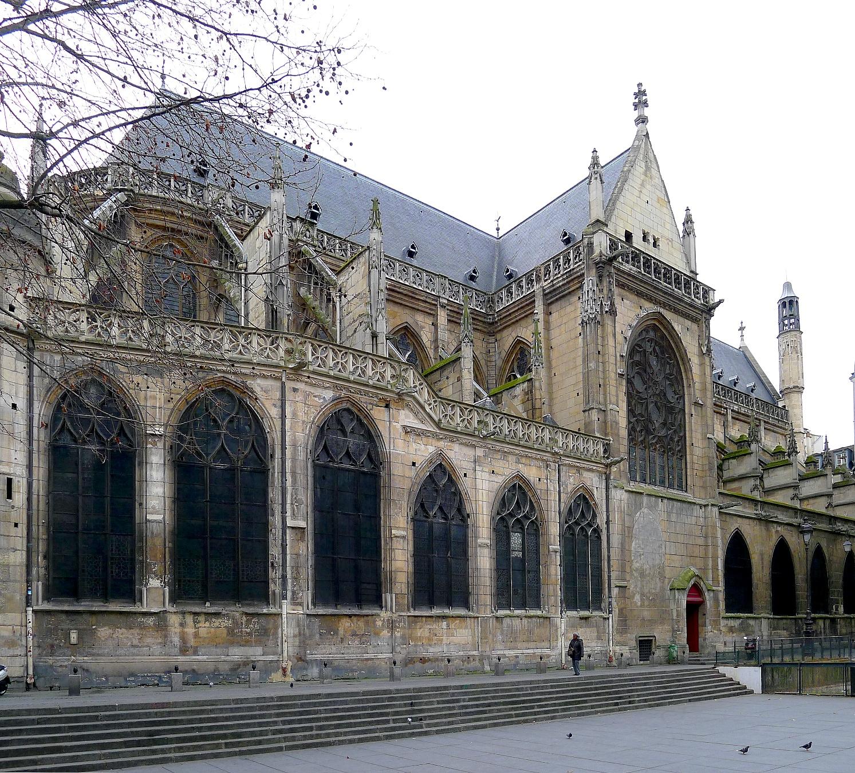 Façade Nord de l'église Saint-Merry (c) Wikipedia