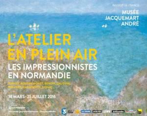 Exposition de L'Atelier en plein air, les impressionnistes en Normandie jusqu'au 25 juillet 2016. © Musée Jacquemart-André
