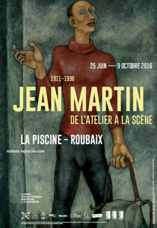 Exposition du peintre Jean Martin : de l'atelier à la scène, au musée La piscine à Roubaix jusqu'au 9 octobre 2016. © Musée La Piscine