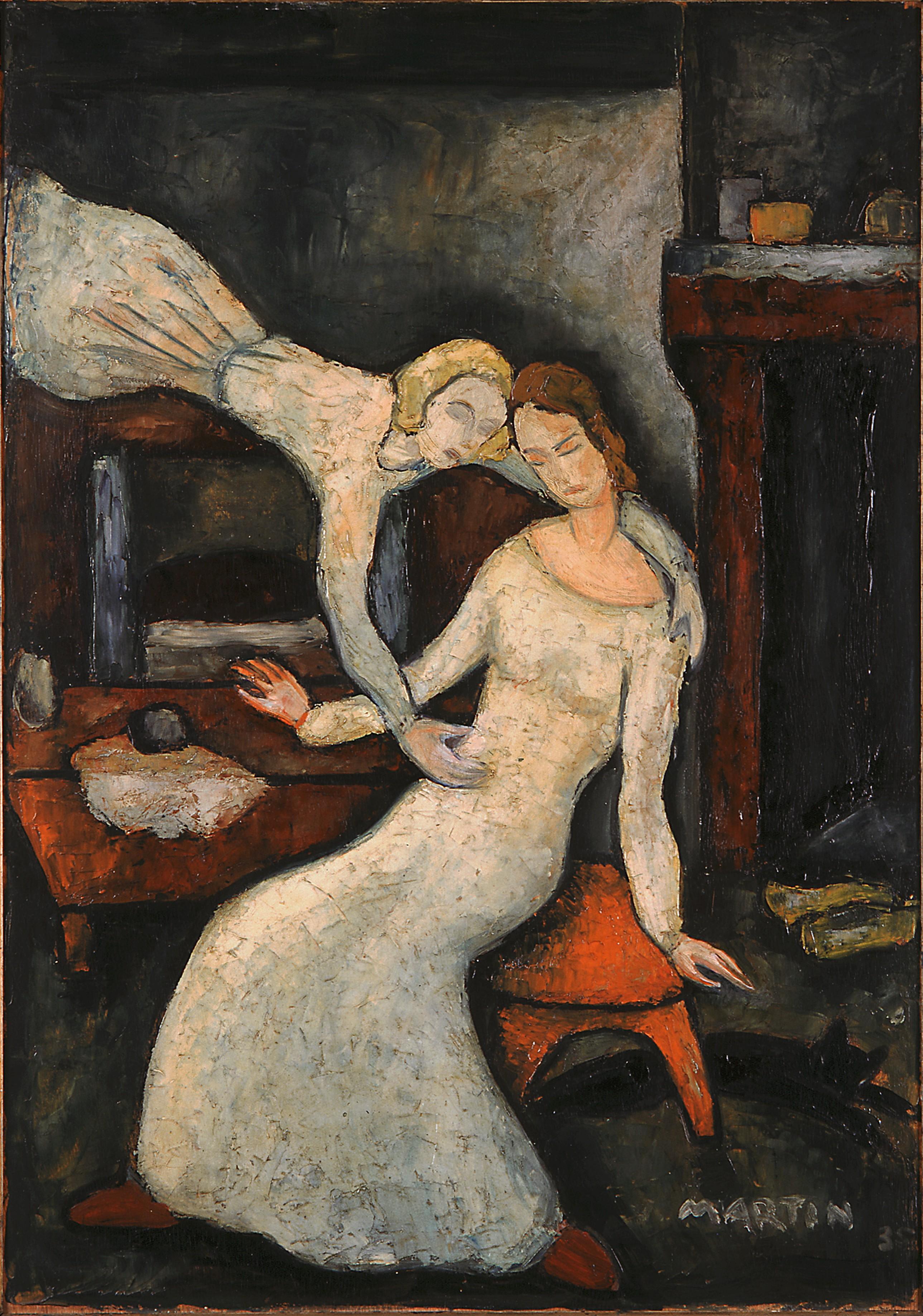 L'Annonciation de Jean Martin, 1935, huile sur toile, donation au Musée eucharistique du Hiéron. © Musée eucharistique du Hiéron