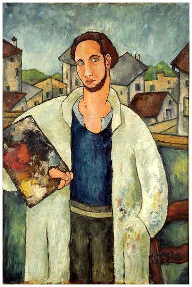 Jean Martin : Le peintre, 1934, huile sur toile, 146x97, Musée Paul Dini, Villefranche sur Saône. © Musée Paul Dini