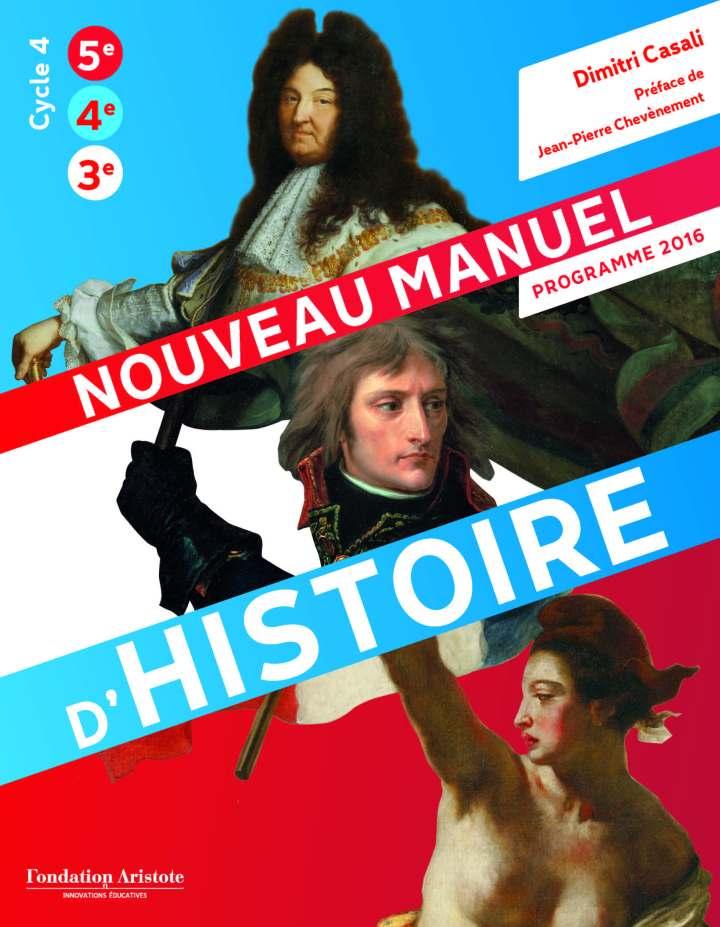 Couverture du nouveau manuel d'histoire © Fondation Aristote