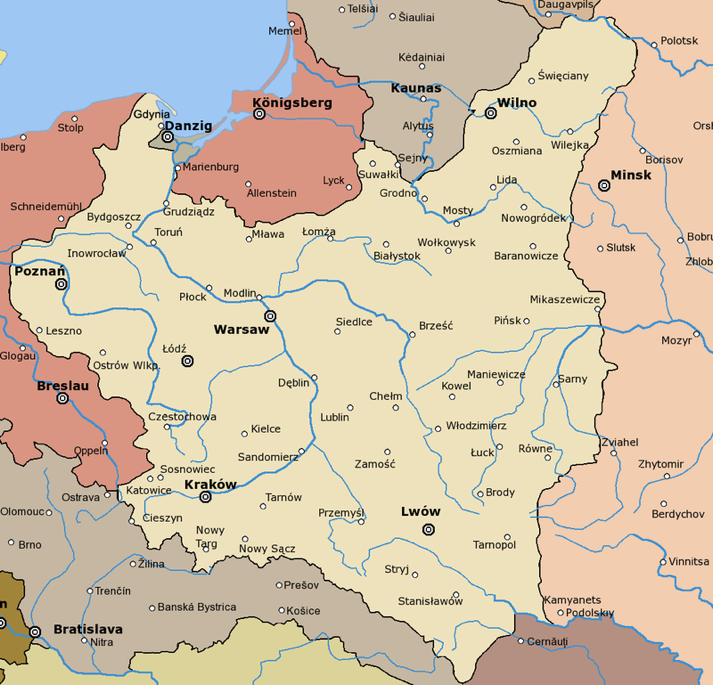 carte Varsovie