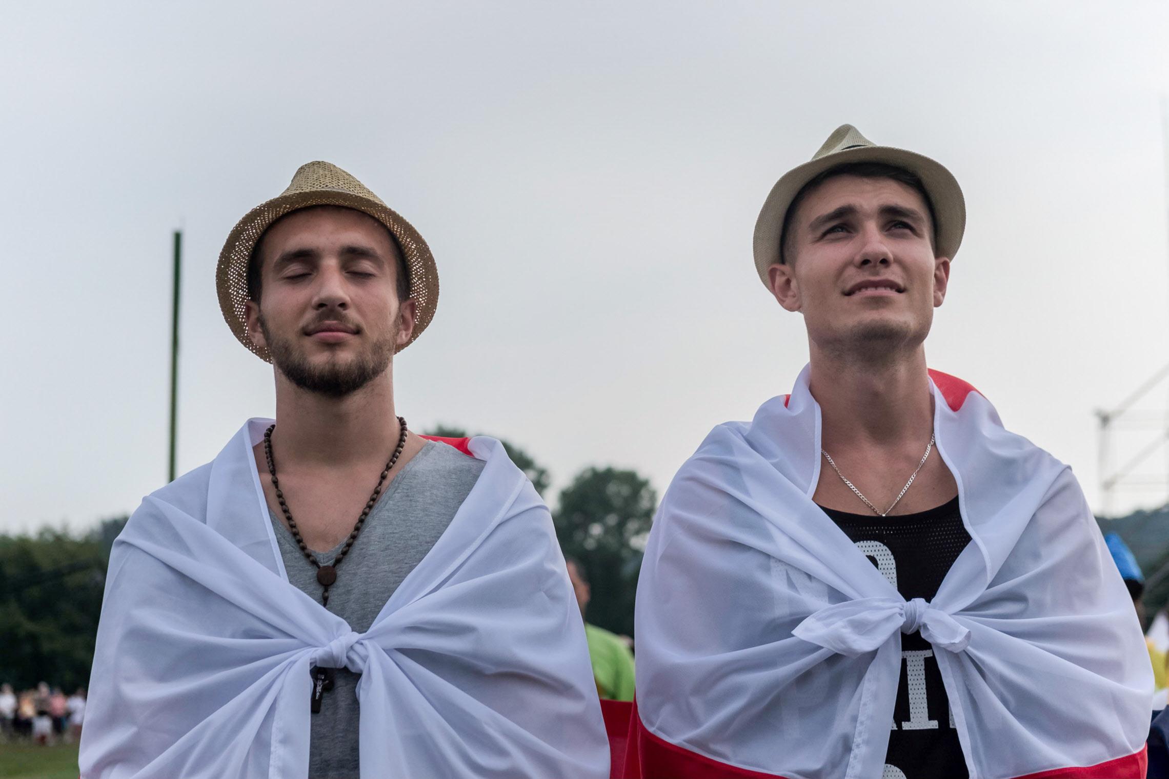 26 juillet 2016 : JMJ à Cracovie. Messe d'ouverture des JMJ dans le parc du Blonia à Cracovie, Pologne.