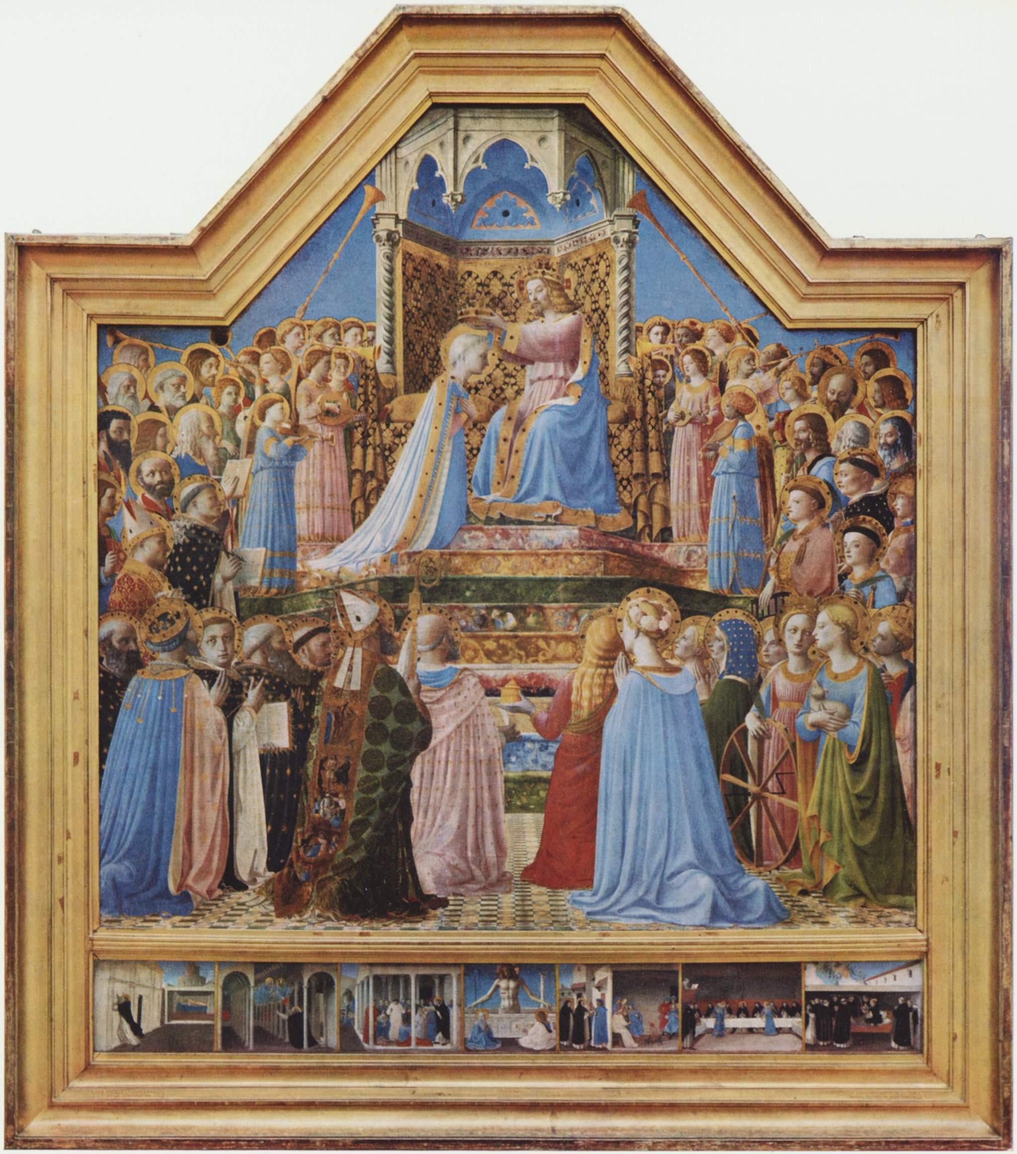 Fra Angelico, Le Couronnement de la Vierge, vers 1430, tempera sur bois, 209 x 206 cm, Paris, musée du Louvre © Musée du Louvre