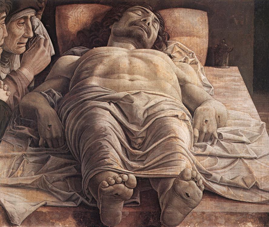 Andrea Mantegna (1431-1506), La Lamentation sur le Christ mort, 1480, tempera, 68 x 81 cm, Milan, Pinacothèque de Brera © Pinacothèque de Brera