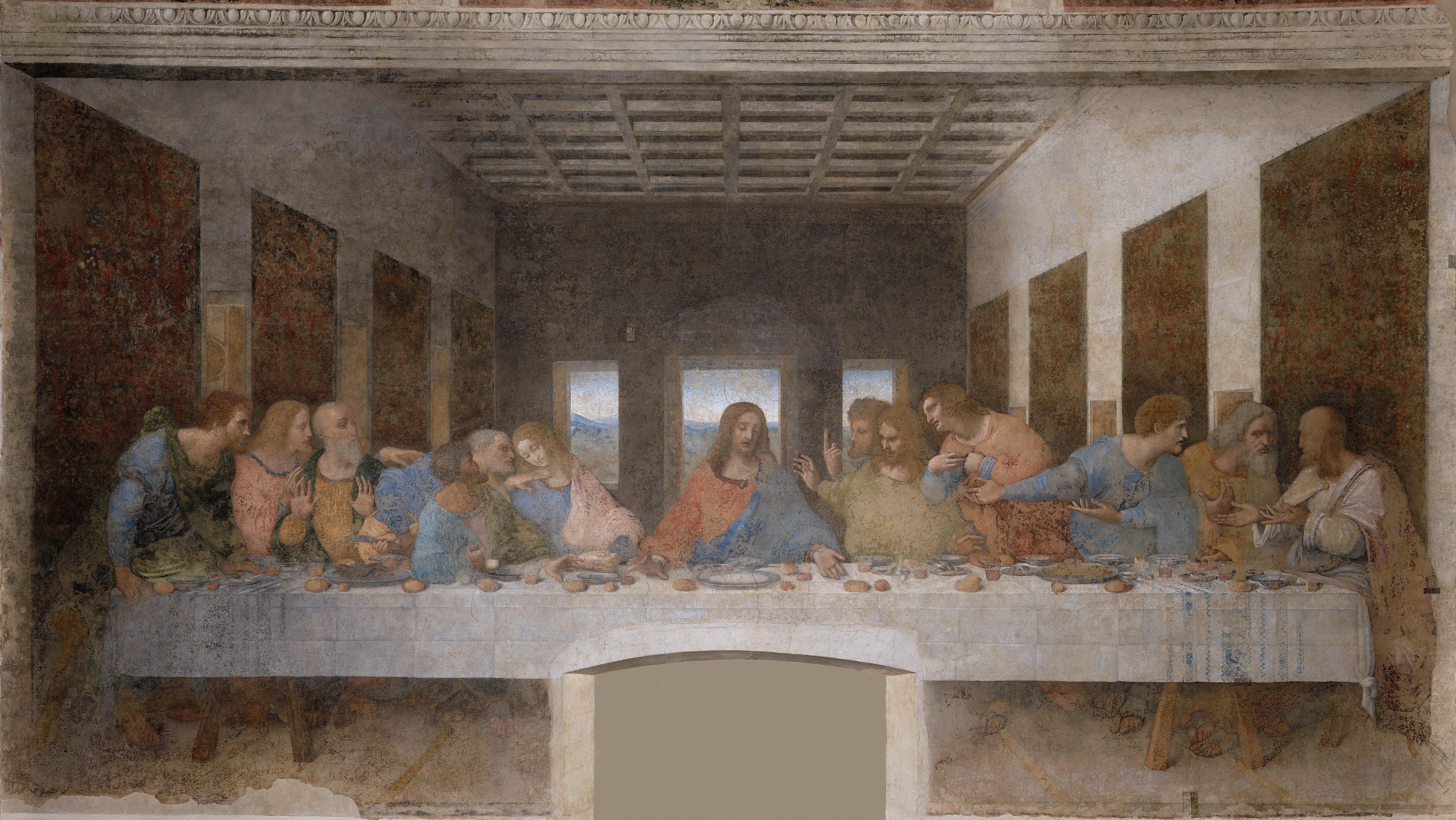 Léonard de Vinci (1452-1519), La Cène, 1494-1498, fresque, 460 x 880 cm, Milan, Eglise Santa Maria delle Grazie © DR