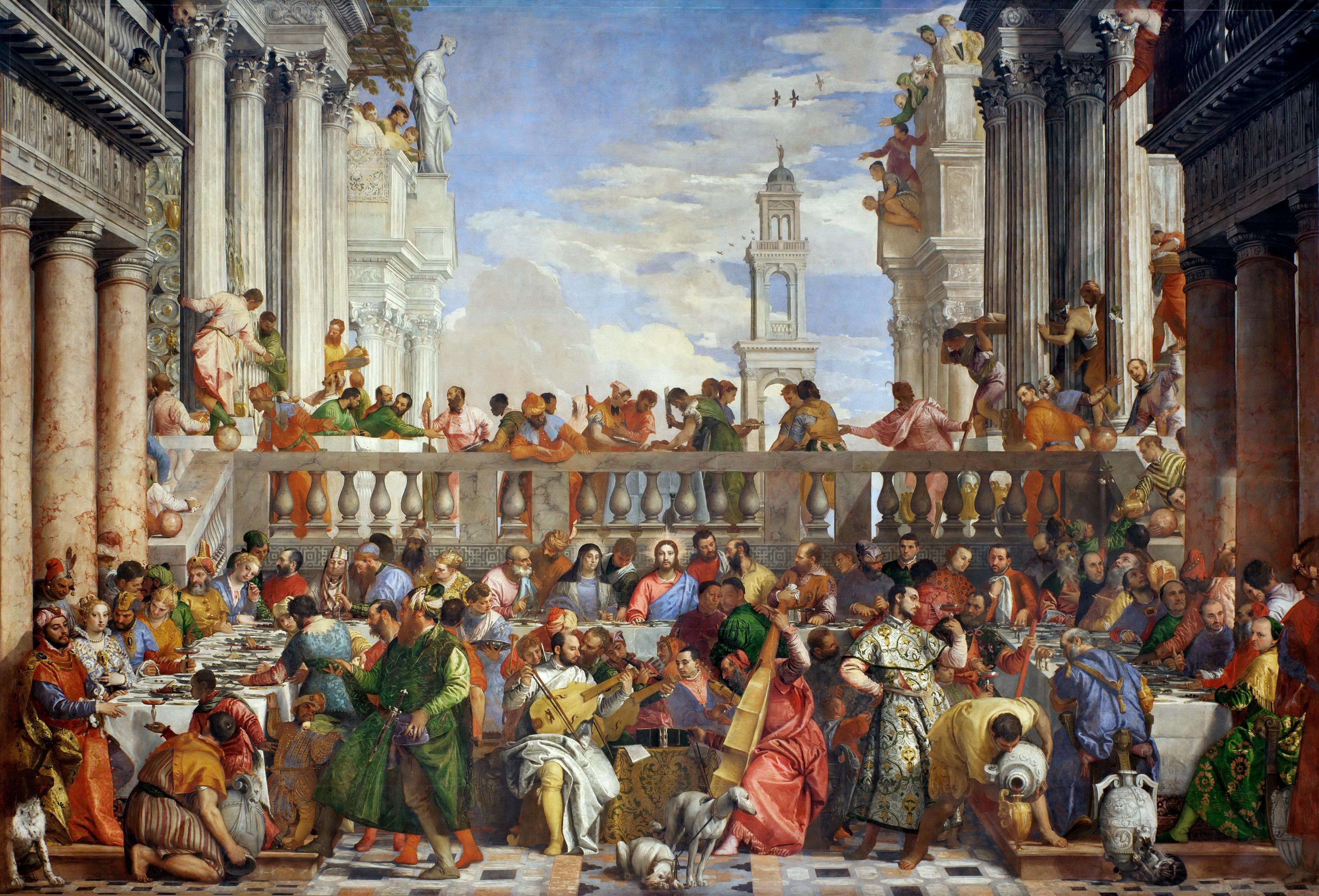 Paolo Véronèse (1528-1588), Les Noces de Cana, 1562-1563, huile sur toile, 666 x 990 cm, Paris, musée du Louvre © Musée du Louvre