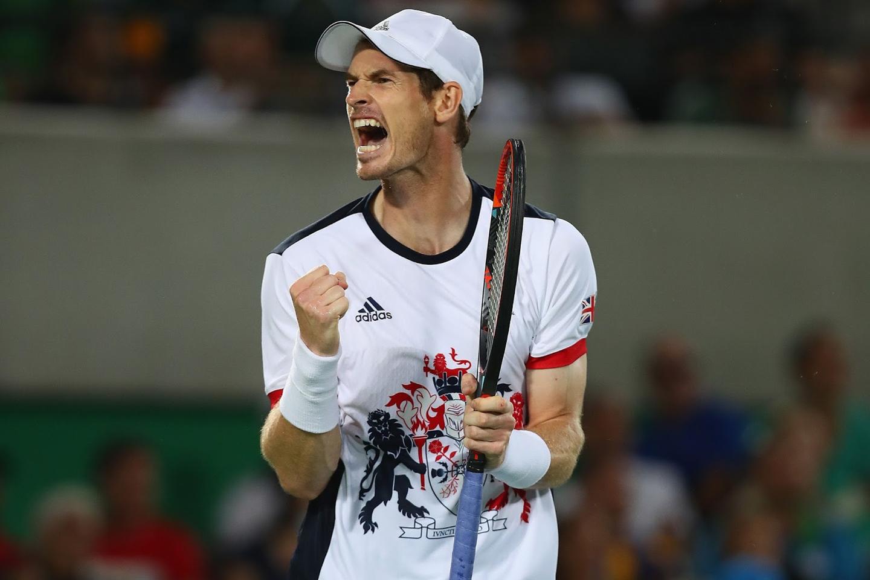 JO, RIO DE JANEIRO, BRÉSIL - 11 AOÛT :  l'Anglais Andy Murray durant la finale de tennis contre l'Argentin Juan Martin Del Potro. © Clive Brunskill | Getty