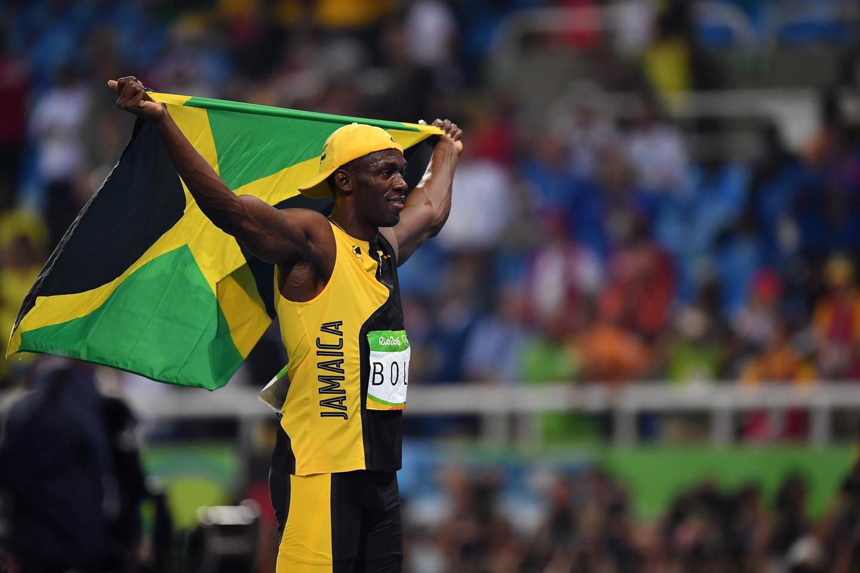 JO, RIO DE JANEIRO, BRÉSIL - 14 AOÛT :  Usain Bolt après avoir gagné l'épreuve du 100 mètres masculin dans le stade olympique. © (Photo by Pascal Le Segretain/Getty Images)