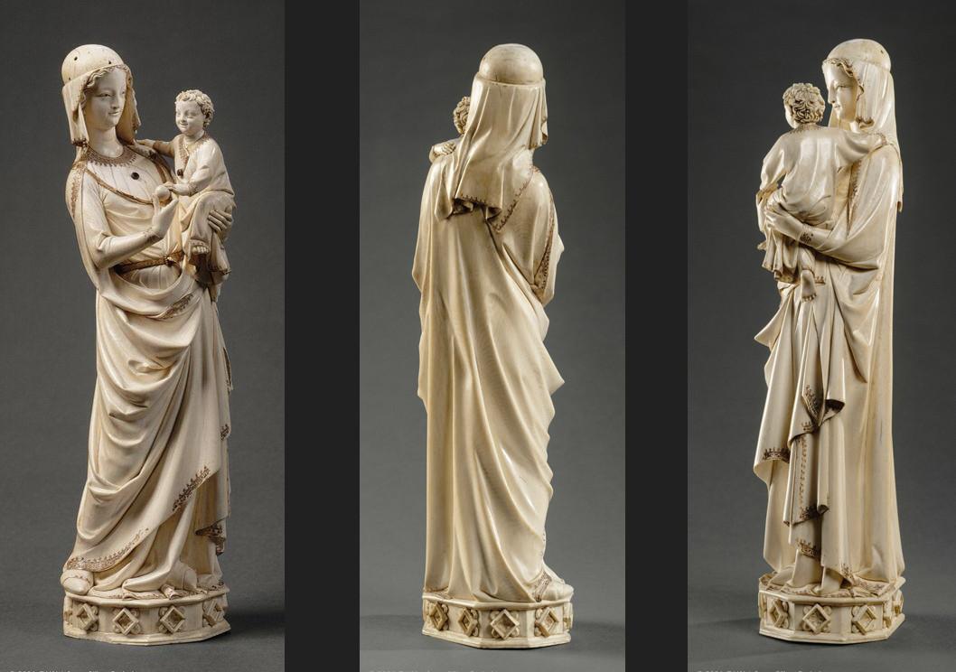 Vierge à l'Enfant de la Sainte-Chapelle, avant 1279, ivoire, provenant du trésor de la Sainte-Chapelle de Paris, Paris, musée du Louvre © Musée du Louvre