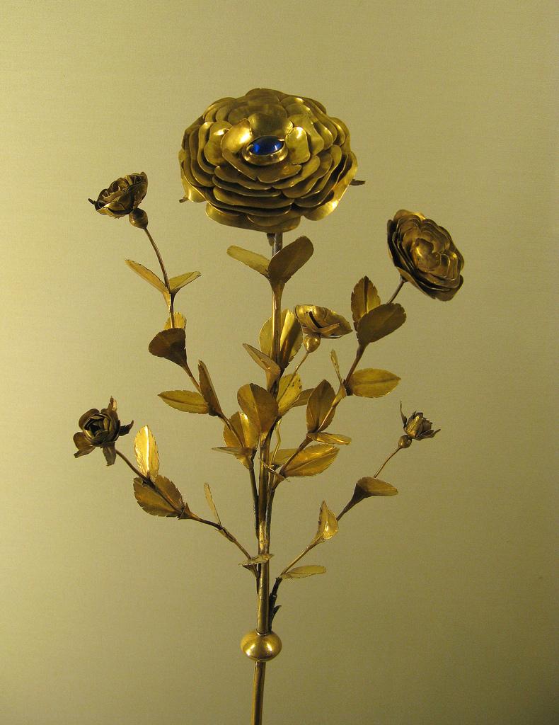 Minucchio da Siena, Rose d'or, 1330, H. 60 cm, musée de Cluny © Musée de Cluny