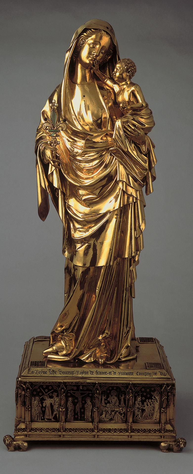 Vierge à l'Enfant de Jeanne d'Evreux, XIVe siècle, argent doré et émaux, Paris, musée du Louvre © Musée du Louvre