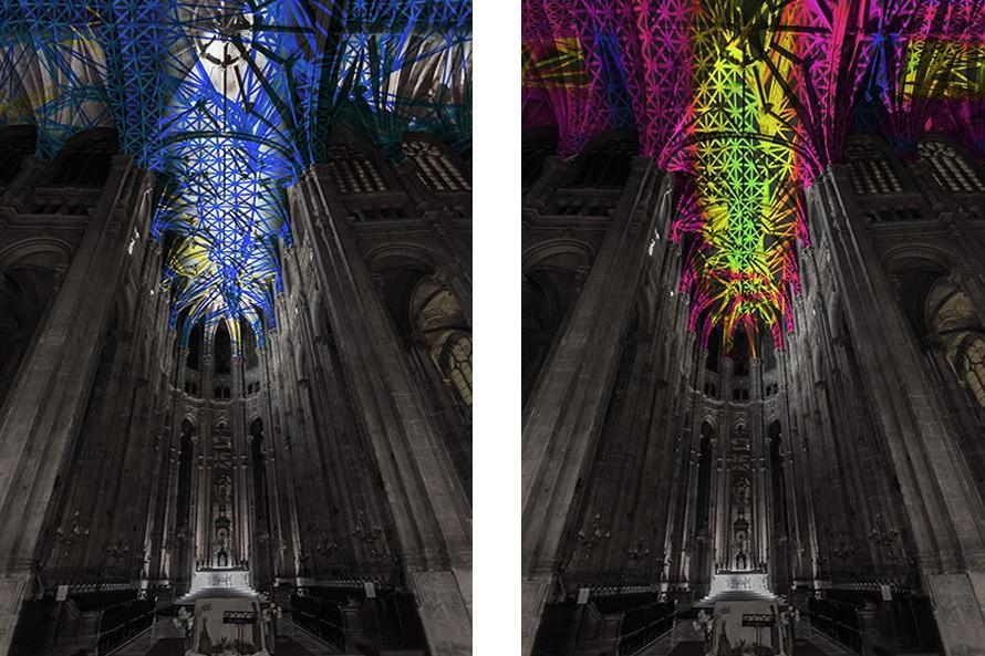 Miguel Chevalier, Voûtes célestes, Eglise Saint-Eustache © DR