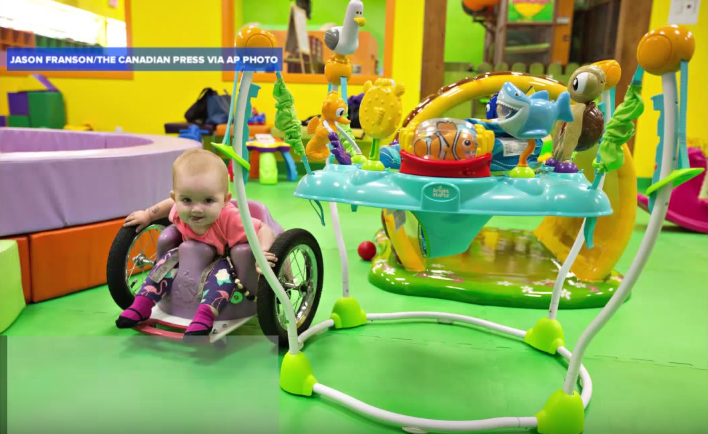 WEB EVELY MOORE  PLAY BABY WHEELCHAIR YouTube:ABC News