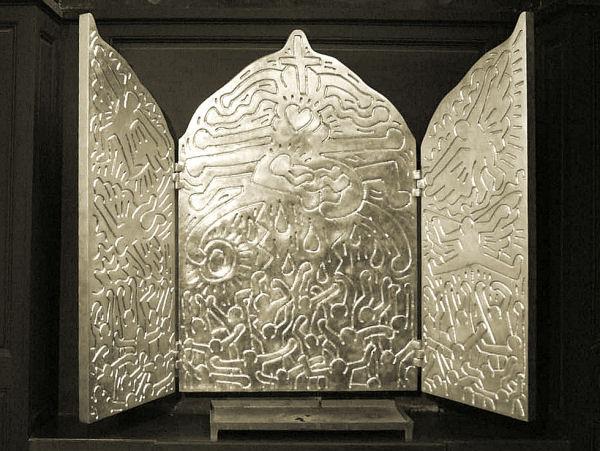Keith Haring, La vie du Christ, avant 1990, Paris, église Saint-Eustache © DR