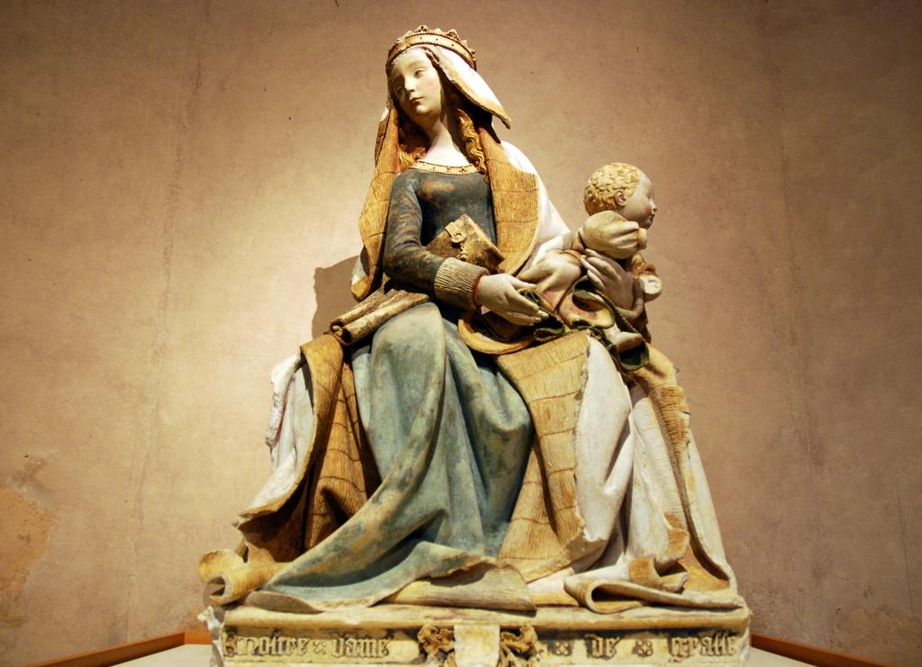 Anonyme, Notre Dame de Grâce, 1460-1480, Toulouse, musée des Augustins © Musée des Augustins