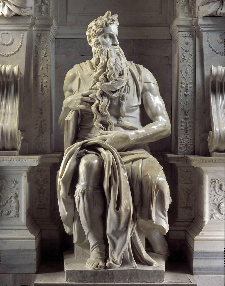 1Michel-Ange, Moïse, 1513-1515, Rome, église Saint-Pierre-aux-Liens © Wikimedia