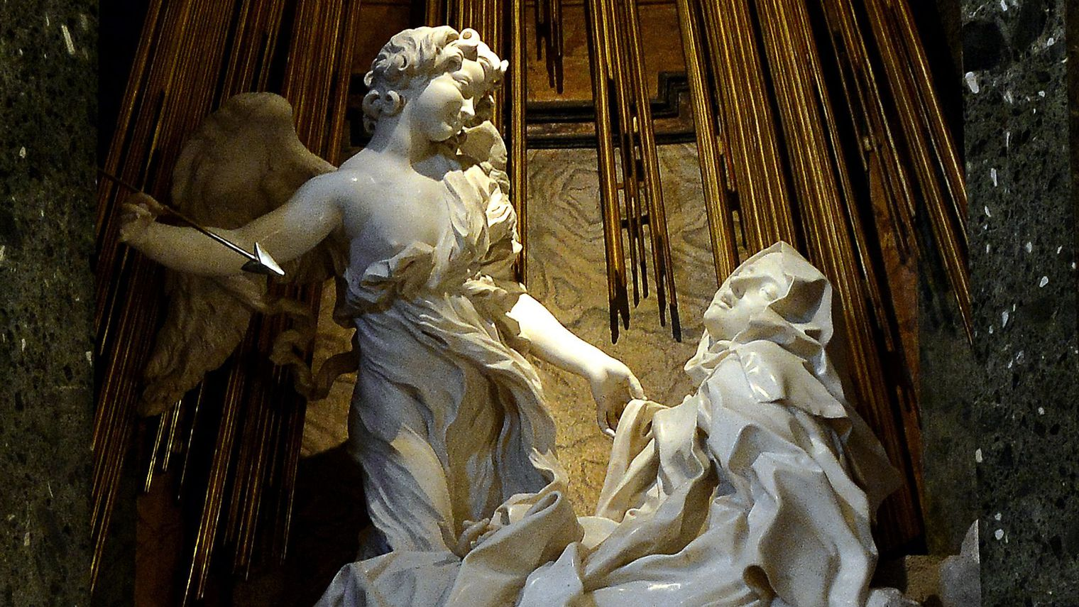 1Bernin, L'Extase de sainte Thérèse, 1647-1652, Rome, église Sante-Maria-della-Vittoria © Wikimedia
