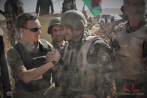 Tanneguy Roblin et le général Tarik © SOS Chrétiens d'Orient