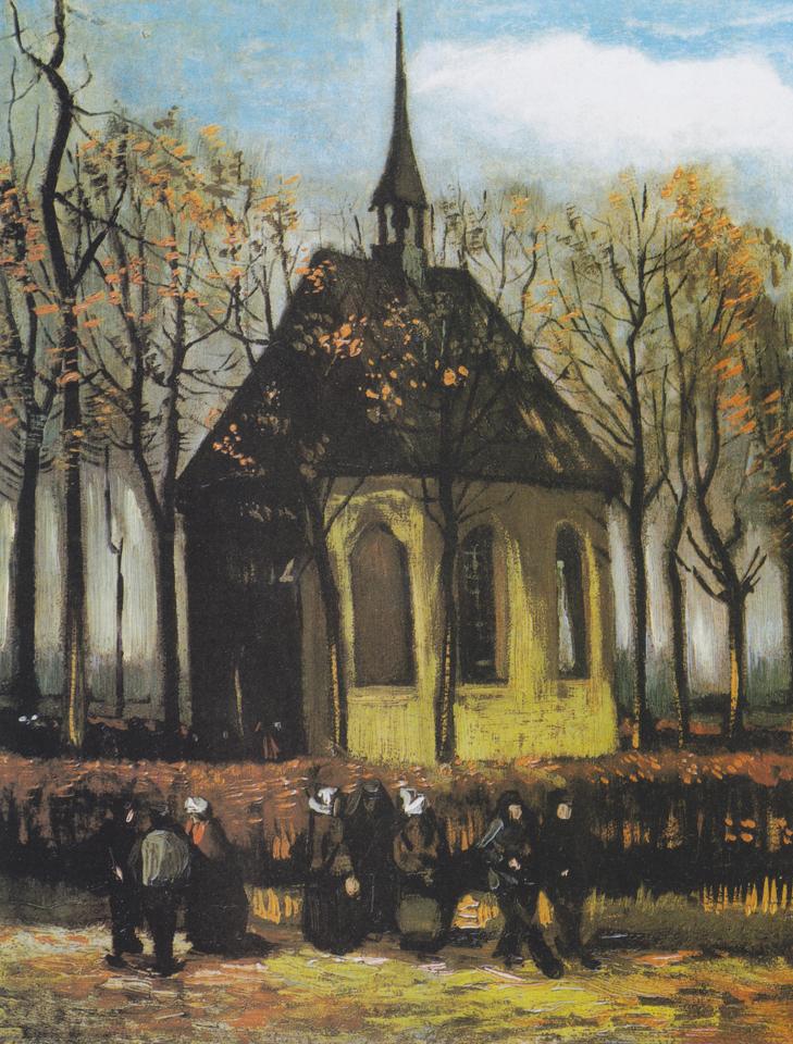 Sortie de l'église de Nuenen, 1884 © PUBLIC DOMAIN