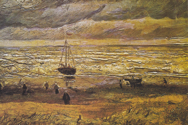 Vue de la mer de Scheveningen, 1882 @ PUBLIC DOMAIN