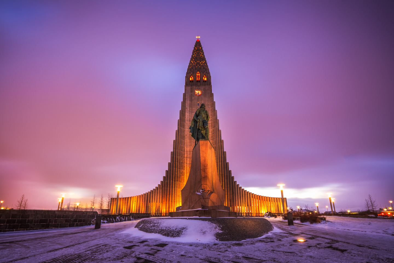 Eglise Hallgrímskirkja, Reykjavik, Islande, 1945 © Andrés Nieto Porras