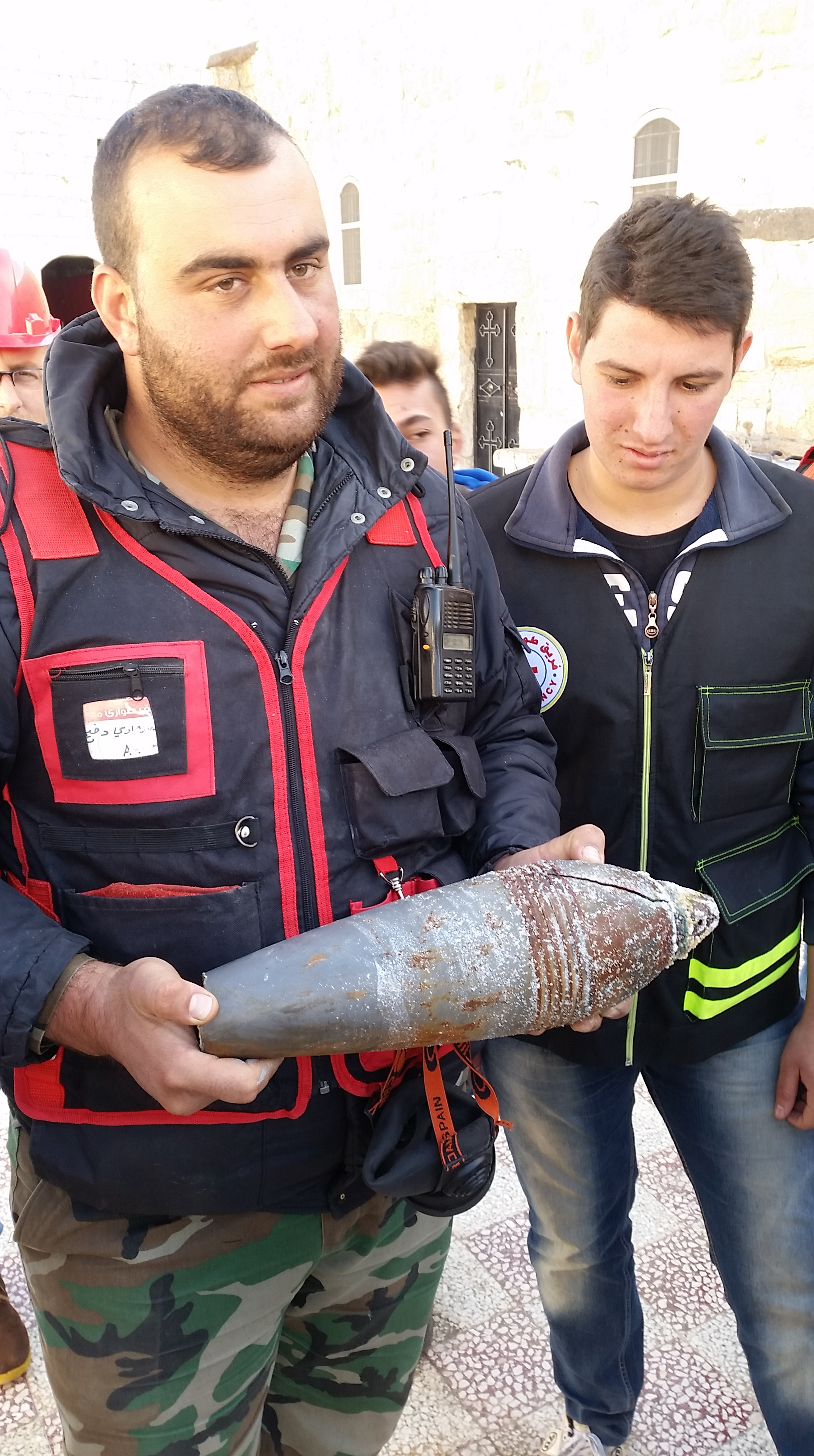 Les obus qui s'abattent tous les jours sur Mhardeh © Alexandre Meyer