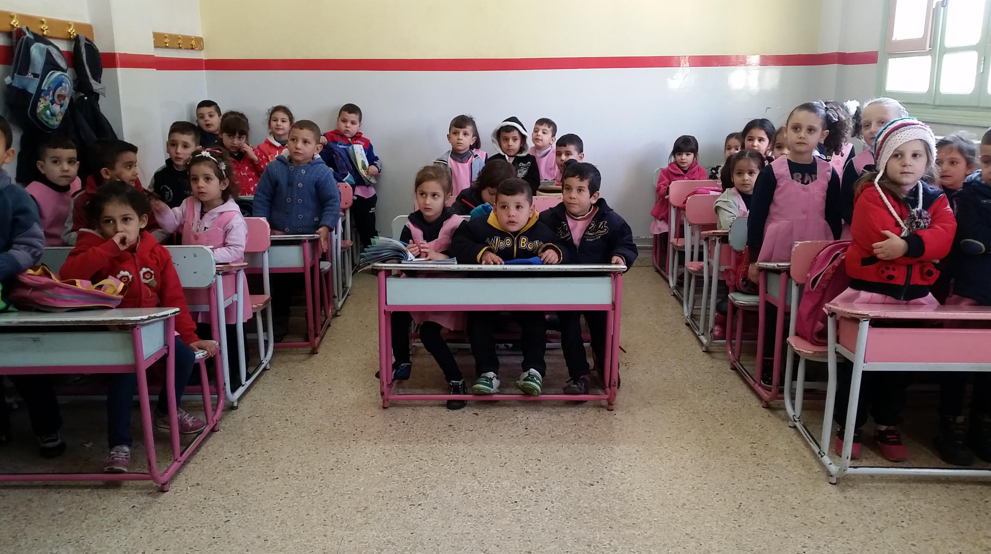Les enfants de la petite école de Mhardeh © Alexandre Meyer