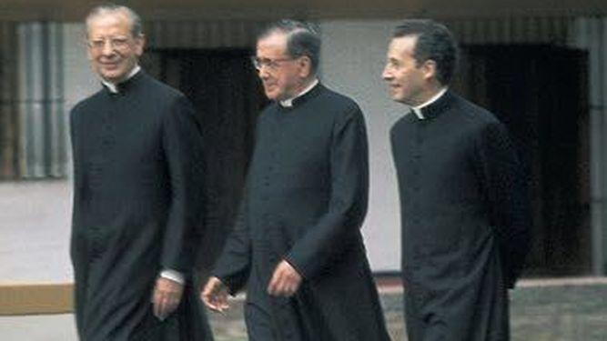 Dom Javier en compagnie de saint Josémaria et de Mgr Alvaro del Portillo